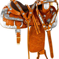 Beautiful Silver Bling Western Pleasure Show Saddle Tack 16