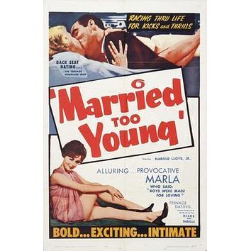 Married Too Young Movie poster Metal Sign Wall Art 8in x 12in