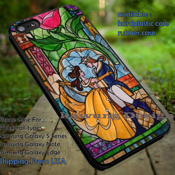 Belle Beauty and the Beast Shattered Glass iPhone 6s 6 6s+ 5c 5s Cases Samsung Galaxy s5 s6 Edge+ NOTE 5 4 3 #cartoon #disney #animated #BeautyAndTheBeast dt