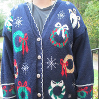 Christmas wreath sweater, tacky Christmas sweater, tacky christmas, holiday sweater, christmas sweater, tacky holiday,