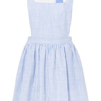 Cotton Stripe Apron Dress