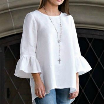 Linen Top - Bella