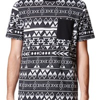 On The Byas Zachary Jacquard Crew T-Shirt - Mens Tee - Black