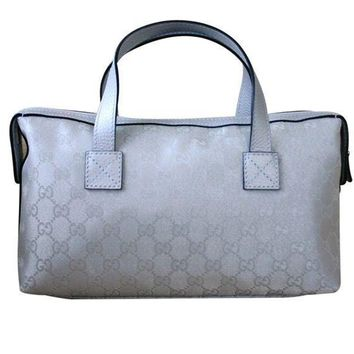 Gucci Boston Bowling Bag Canvas Handbag 264210