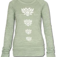 Lotus Long Sleeve Burnout: Soul-Flower Online Store