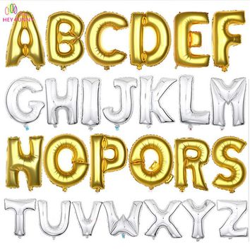 HEY FUNNY 1 pc 40 inch Big Silver/Gold Alphabet Helium Foil Balloon Number Balloons Birthday/New Year Party Wedding Decor