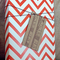 Chevron Patterned Wrapping Paper for Small Gift