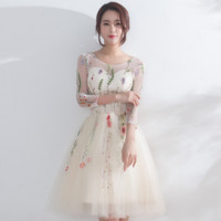 New fashion small dress short dress in the sleeve was thin spring and summer party evening dress bridesmaid dress