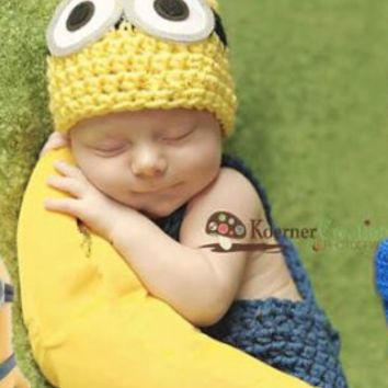 Minion Newborn Baby Outfit - CCA90