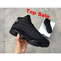 "Air Jordan 13 ""Black Cat"" 3M AJ13 Retro Men Basketball Shoes"