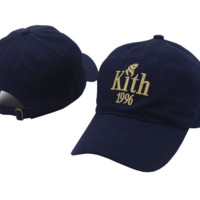 Navy Blue KITH 1996 Embroidered Adjustable Cotton Baseball Cap Hat