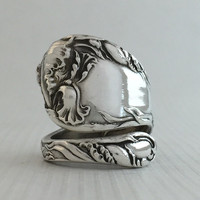 Size 8 Vintage Reed & Barton Sterling Silver Spoon Ring
