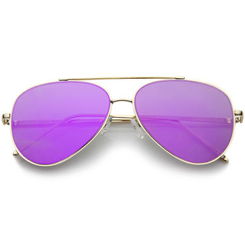 PURPLE HAZE MIRROR AVIATOR SUNGLASSES