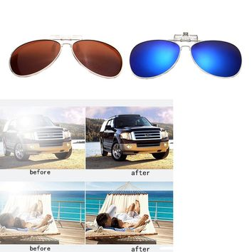 Men Women Polarized Clip On Sunglasses Fishing Night Anti UV Driving Cycling riding Sunglasses Fishing Pesca Clips