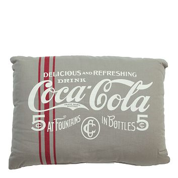 Authentic Coca-Cola Coke Pre-1910 Taupe Pillow New with Tags