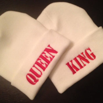 Customized Valentines Day Beanie For Her-For Him-Queen-King