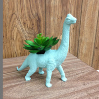 Up-cycled Sea Glass Apatosaurus Dinosaur Planter