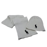 Polo Ralph Lauren Fashion Beanies Knit Winter Hat Cap Scarf Scarves Set Two-Piece