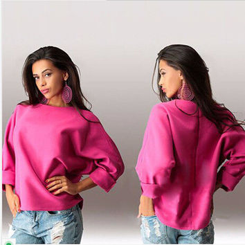 T-shirts Round-neck Plus Size Tops Hoodies [4962087492]