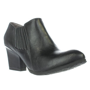 LifeStride Whimzy Pull On Ankle Boots, Black Dusty, 9 US / 39 EU