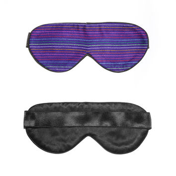 Dark Blue Hand-Weaved Mexican Sleep Mask   Perpetual Shade