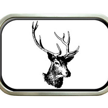 Deer Head Buck Hunting Belt Buckle