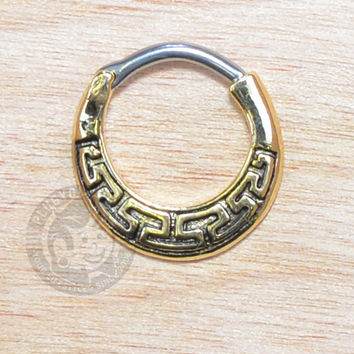 Gold Maze Steel Septum Clicker