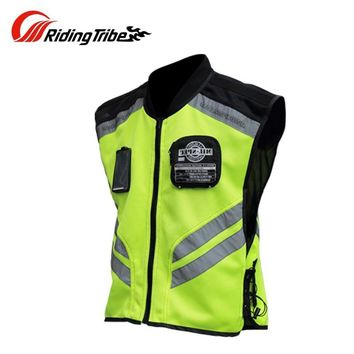 Trendy Riding Tribe Motorcycle Reflective Vest Motorbike Safty Clothes Moto Warning High Visibility Jacket Waistcoat Team Uniform JK-22 AT_94_13