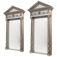 Pair of Baltic Neoclassical Architectural Mirrors, circa 1900