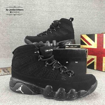 Nike Jordan 9 Trending Men Casual Sport Basketball Running Sneakers Shoes Pure Black I-CSXY