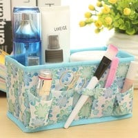Makeup Cosmetic Storage Box Bag Bright Organiser Foldable Makeup Stationary Container