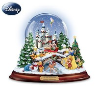 """An Old Fashioned Disney Christmas"" Musical Snowglobe Showcasing 13 Classic Characters by The Bradford Exchange"