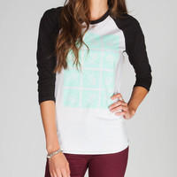 Young & Reckless Skribble Womens Baseball Tee Black/White  In Sizes