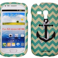 Samsung Galaxy S3 i8190 mini Tribal Chevron Love Anchor hard case cover Snap-On