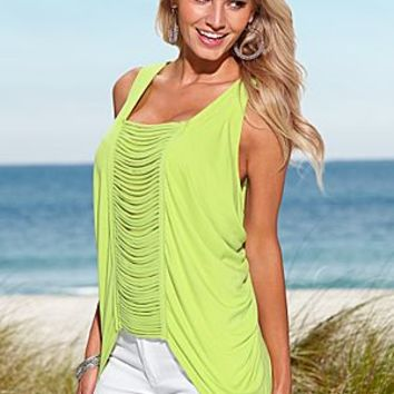 Bright Yellow (BRTY) Front Detail Top
