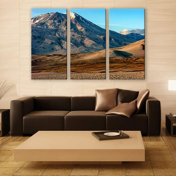 Alaska Scenic Mountains Print 3 Panels Print Wall Decor Fine Art Landscape Photography Repro Print for Home and Office Wall Decoration