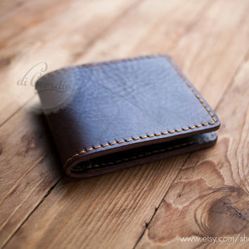 Brown leather wallet minimal wallet thin wallet men's leather wallet slim wallet men leather wallet travel wallet men's leather wallets