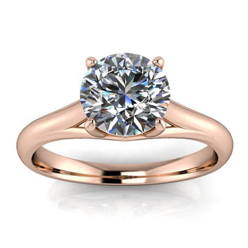 Solitaire Moissanite Engagement Ring Forever One - Giselle
