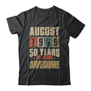 August 1969 50 Years Of Being Awesome Birthday Gift