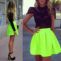 Skater Tutu Skirt Short Mini Dress