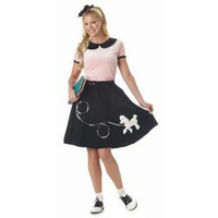 California Costumes Womens 50's Hop Halloween Party Poodle Skirt Costume