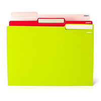 Poppin File Folders Assorted, Pink - White - Lime