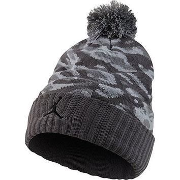 Jordan Camo Pom Beanie Knitted Hat Dark Grey/Cool Grey/Black 686937-021 (Size os)