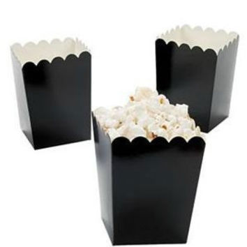 Black Treat-Favor-Popcorn Boxes