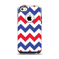 The Patriotic Chevron Pattern Apple iPhone 5c Otterbox Commuter Case Skin Set