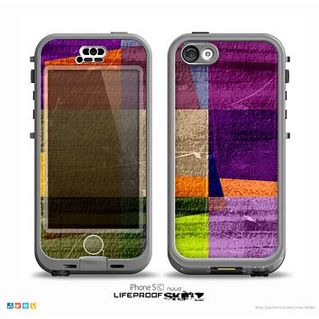 The Vintage Highlighted Panels of Color Skin for the iPhone 5c nüüd LifeProof Case