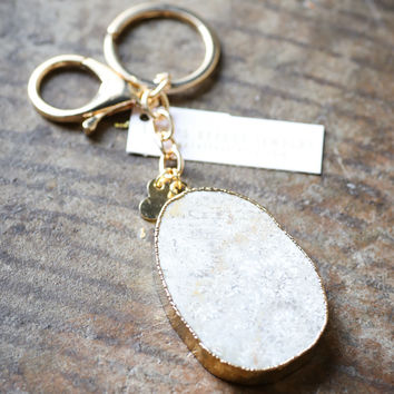 Spotted Stone Statement Keychain