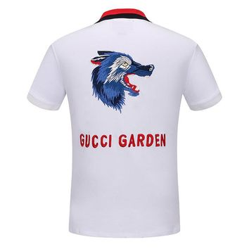 Gucci Women or Men Fashion Casual Letter Pattern Print Shirt Top Tee