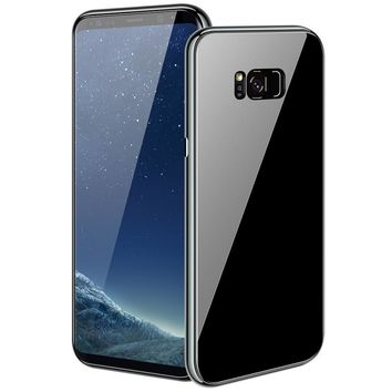 Easterm Magnetic Flip Case For Samsung Galaxy Note 8 S7 Edge S9 S8 Plus note 9 Magnet Adsorption Tempered Glass Back Cover