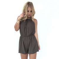 Truth Be Told Romper In Olive